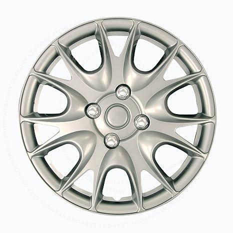 """LT deporte 00842148168156 para Volkswagen 15 """"(R15) borde piel Tapacubos Abs 4"""