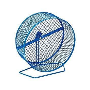 Rueda para hámsters Nobleza, de cable de acero azul, diámetro 27,94 cm: Amazon.es: Productos para mascotas