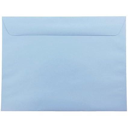 amazon com jam paper 9 x 12 booklet envelopes baby blue 25