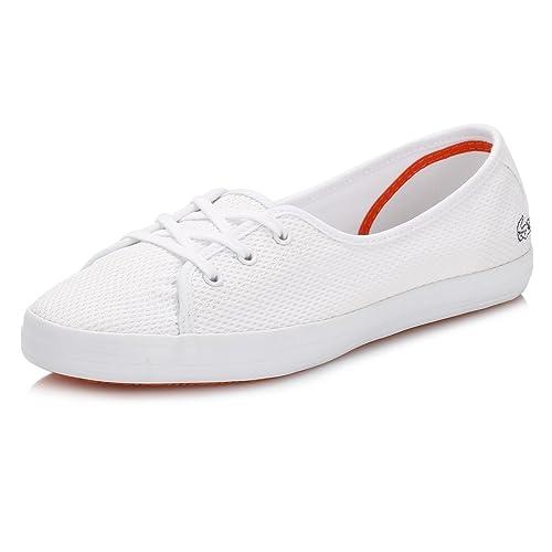 c9363ab0 Lacoste Mujer Blanco Ziane Chunky Ballerinas: Amazon.es: Zapatos y  complementos