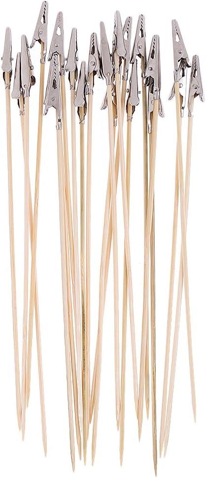 FLAMEER 20 Piezas De Aer/ógrafo Y Rociador De Piezas De Herramientas Soporte De Clip De Color Modelo De Soporte Palo De Pintura 10 pcs 18.6cm de Metal