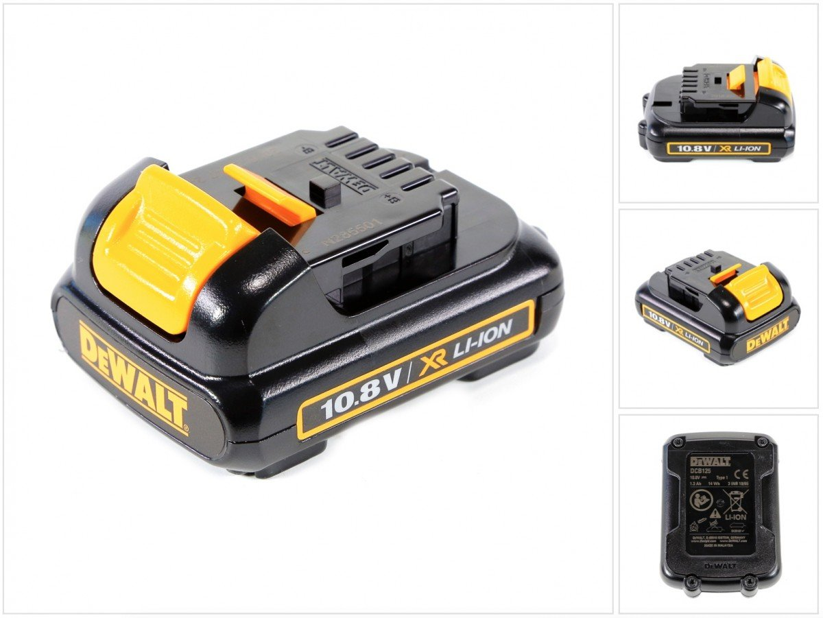 DeWalt DCB125 Battery Pack 10.8 Volt Li-Ion 1.3Ah DCB125-XJ