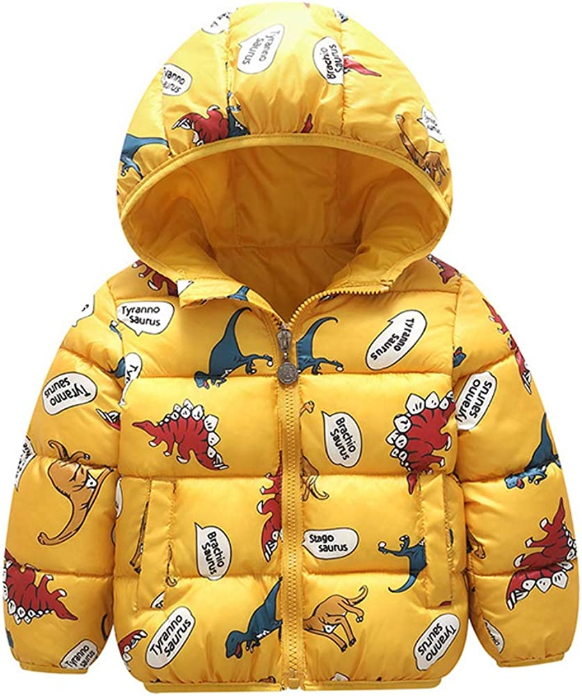 AIEOE Baby Boys Girls Down Coat Winter Cartoon Warm Hoodied Jacket Outwear 1-5Years