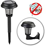 POPUD Solar Powered Bug Zapper Light, Kpest Solar Insect Killer Indoor Outdoor Mosquito Killer Fly Pest Trap Lamp Portable Garden Lawn Light For Residential, Commercial and Industrial Use