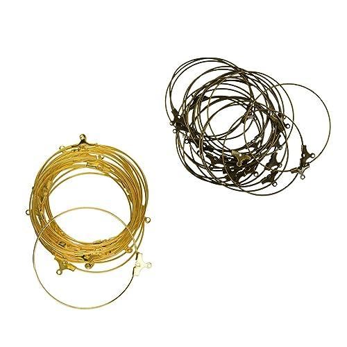 MagiDeal DIY Ohrringe Erkenntnisse / Messing Ohr Draht Ohrring Hoops ...