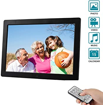 13.3 Inch Digital Photo Frame Advertising Media Player 1280800 HD Screen Advertising Machine MP3//Photo//Video Player with Remote Control,White 16:10