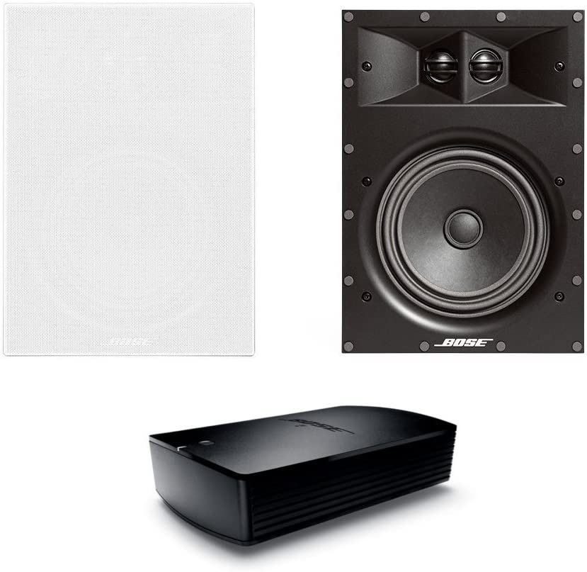 Bose Virtually Invisible 891 In-Wall Speaker- Pair (White) with SoundTouch SA-5 Amplifier