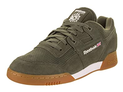 0cd87f70bfb Reebok Workout Plus SG Unisex Shoes Army Green White Gum cn1053 (8 D ...