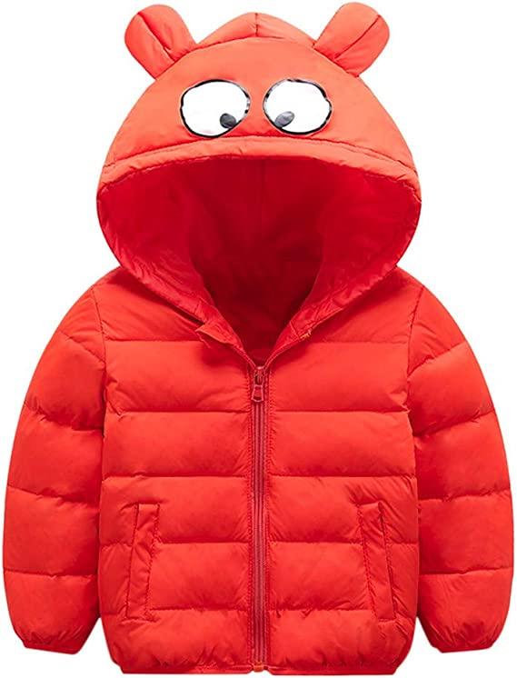 Babys Boys Girls Kids Hoodie Jacket Coat Winter Warm Zip Thick Outerwear Clothes