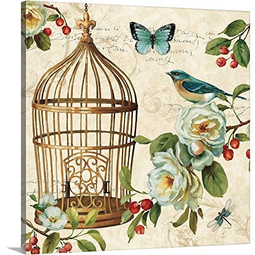 Art Cage Wall (Lisa Audit Premium Thick-Wrap Canvas Wall Art Print entitled Free as a Bird II 20