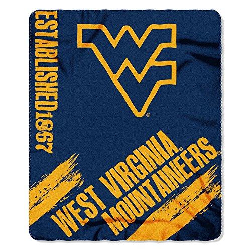 (Officially Licensed NCAA West Virginia Mountaineers Painted Printed Fleece Throw Blanket, 50