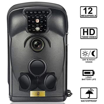 ARTITAN Cámara de Caza 12MP Cámara de Vigilancia Impermeable IP65 con Infrarrojos PIR Sensor de Movimiento 65ft Visión Nocturna de Caza para Fauna Seguridad ...