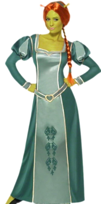 Confettery - Damen Shrek Prinzessin Fiona Kostüm, L, Grau