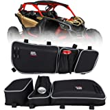 Kemimoto X3 Door Bags, Front Upper Door Mount Storage Bag with Cup Holder/Removable Knee Pads compatible with Can Am XRS XDS