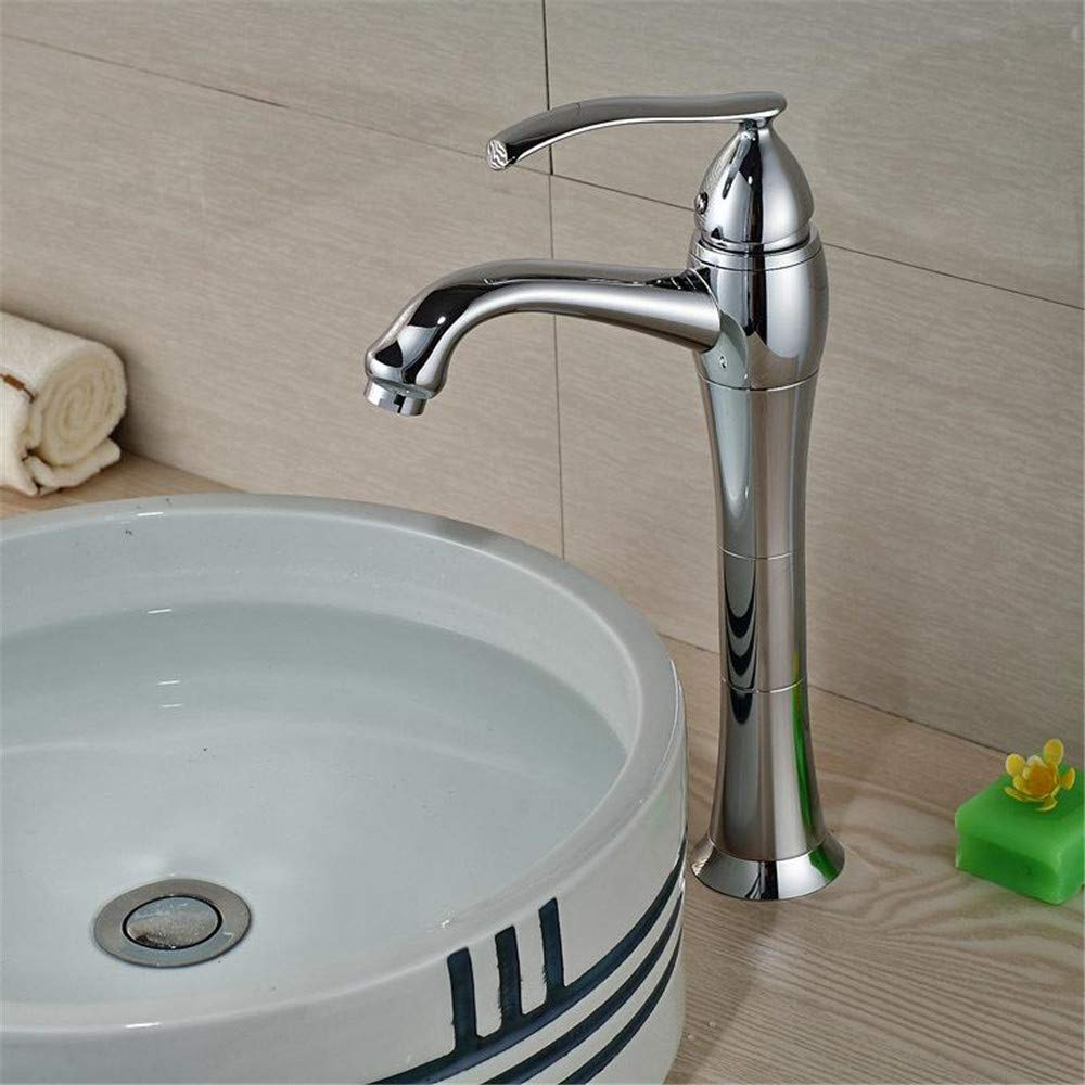 Decorry Deck Mount Modern Single Handle Basin Vessel Sink Faucet One Handle Single Hole Mixer Taps in Chrome