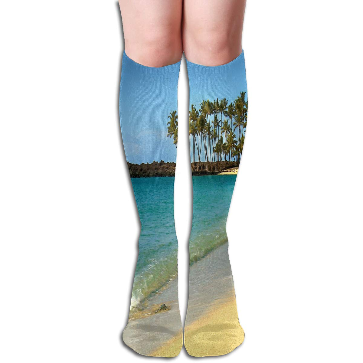 Girls Socks Mid-Calf Hawaii Beautiful Sunset Sea Waves Winter Unique For Party