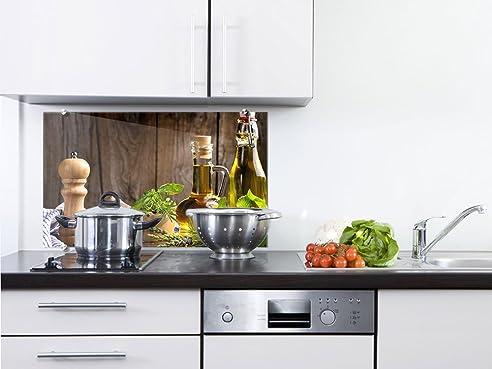 Graz Design® Küchenrückwand Spritzschutz Aus Glas Öl Pfeffer