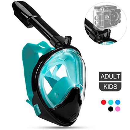 aebe7dbe6a7a Amazon.com   Poppin Kicks Full Face Snorkel Mask for Adult Youth and ...