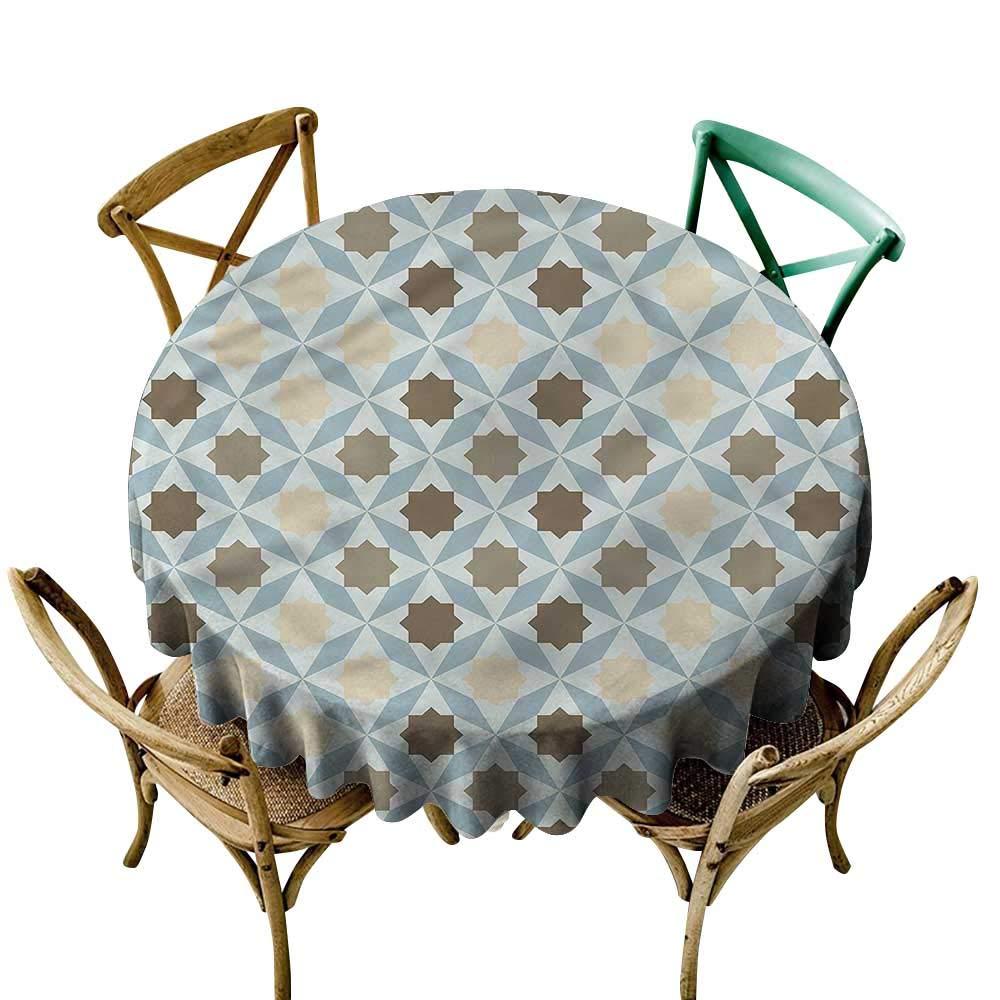 LsWOW ピクニックラウンドテーブルクロス 幾何学花柄ブルーム 自然 休日のディナーなどに最適 60 Inch 60 Inch カラー15 B07Q7P55BD