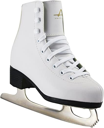 Amazon Com American Athletic Shoe Girls Tricot Lined Ice Skates