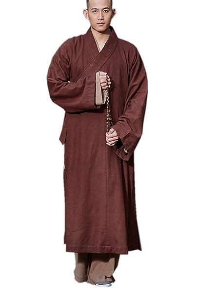 Zen Men Meditation Zanying Winter Outfit Buddhist Monk Robe Brown n0wONXk8P