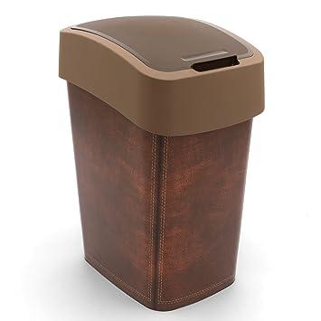 Curver Abfallbehälter 25L Flip Bin Leather Design Schwingdeckel ...