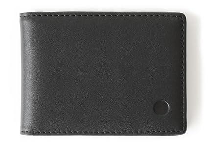 revendeur 0e6d2 05a4b Portefeuille fin pour homme / DECISIVE / Porte-cartes pratique et léger /  Noir