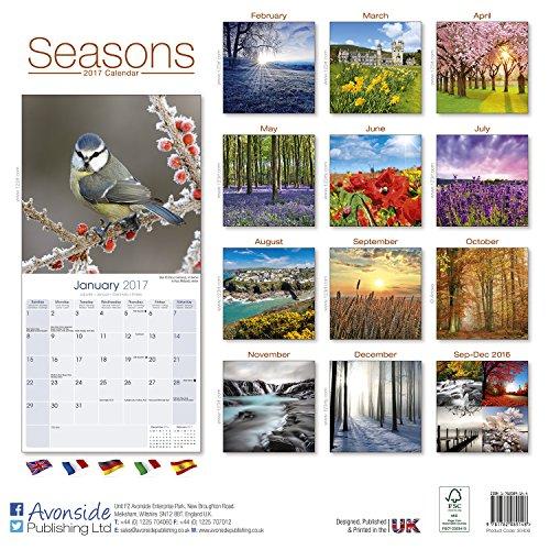 Photography Calendar – Seasons Calendar – Calendars 2016 – 2017 Wall Calendars – Sunset Calendar – Photo Calendar – Seasons 16 Month Wall Calendar by Avonside