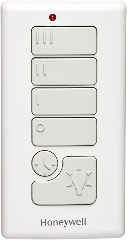 Honeywell Ceiling Fans 40012-01 Full Function Mag Mount Universal Remote Control for Ceiling Fans Cream