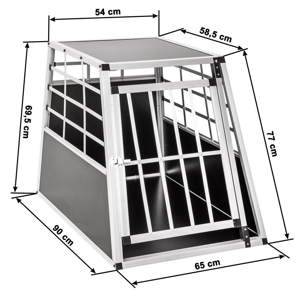 TecTake Transport/ín de Aluminio para Perros Varias tama/ños 54x69x50cm | no. 400548