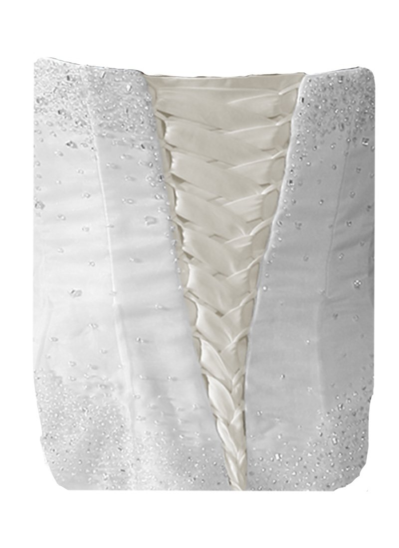 Laceeis Wedding Gown Replace Zipper Adjust Fit Corset Back Kit Lace-Up Satin Light Ivory 12''