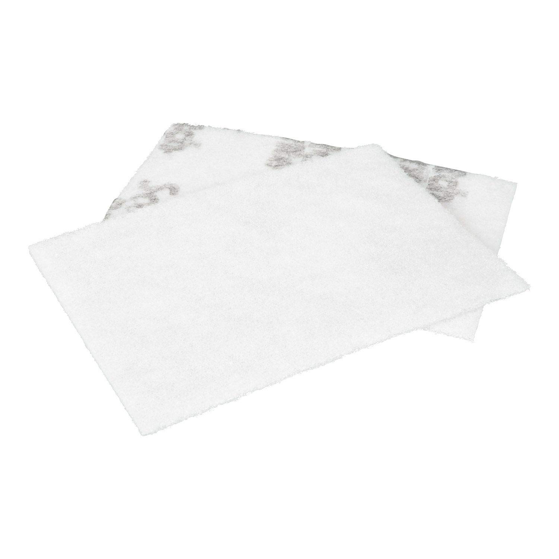 "Aluminum Silicate 9/"" Length x 6 Scotch-Brite Light Cleansing Pad 7445 White"