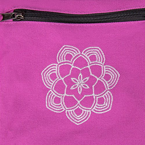 Peace Yoga Air Vent Yoga Mat Bag Pink Lotus