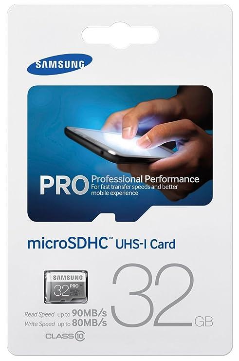 Samsung Pro - Tarjeta de Memoria Micro SDHC de 32 GB (UHS -I Grade ...