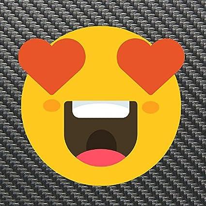 Amazon com: Heart Eyes Face Emoji Sticker Decal Custom Vinyl