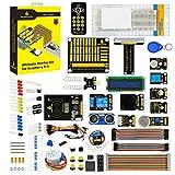 KEYESTUDIO for Raspberry Pi Starter Kit with PCF8591 Shield, LEDs, Resistors, Sensors, 1602 LCD, IR Remote Control, Ultrasonic for Raspberry Pi 3 B+ (B Plus)