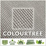 ColourTree 8' x 12' Grey Sun Shade Sail Rectangle