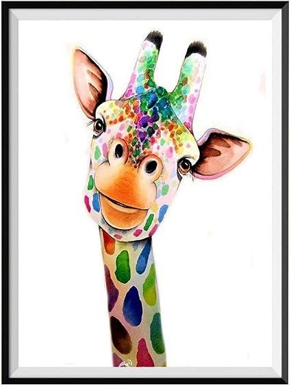 Giraffe 5D Full Diamonds Embroidery Painting DIY Cross Stitch Home Decor RW