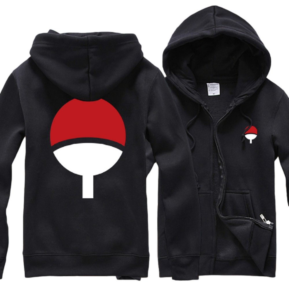 GK-O Naruto Uchiha Sasuke Hoodie Jacket Pullover Coat Sweatshirt Unisex (Small)