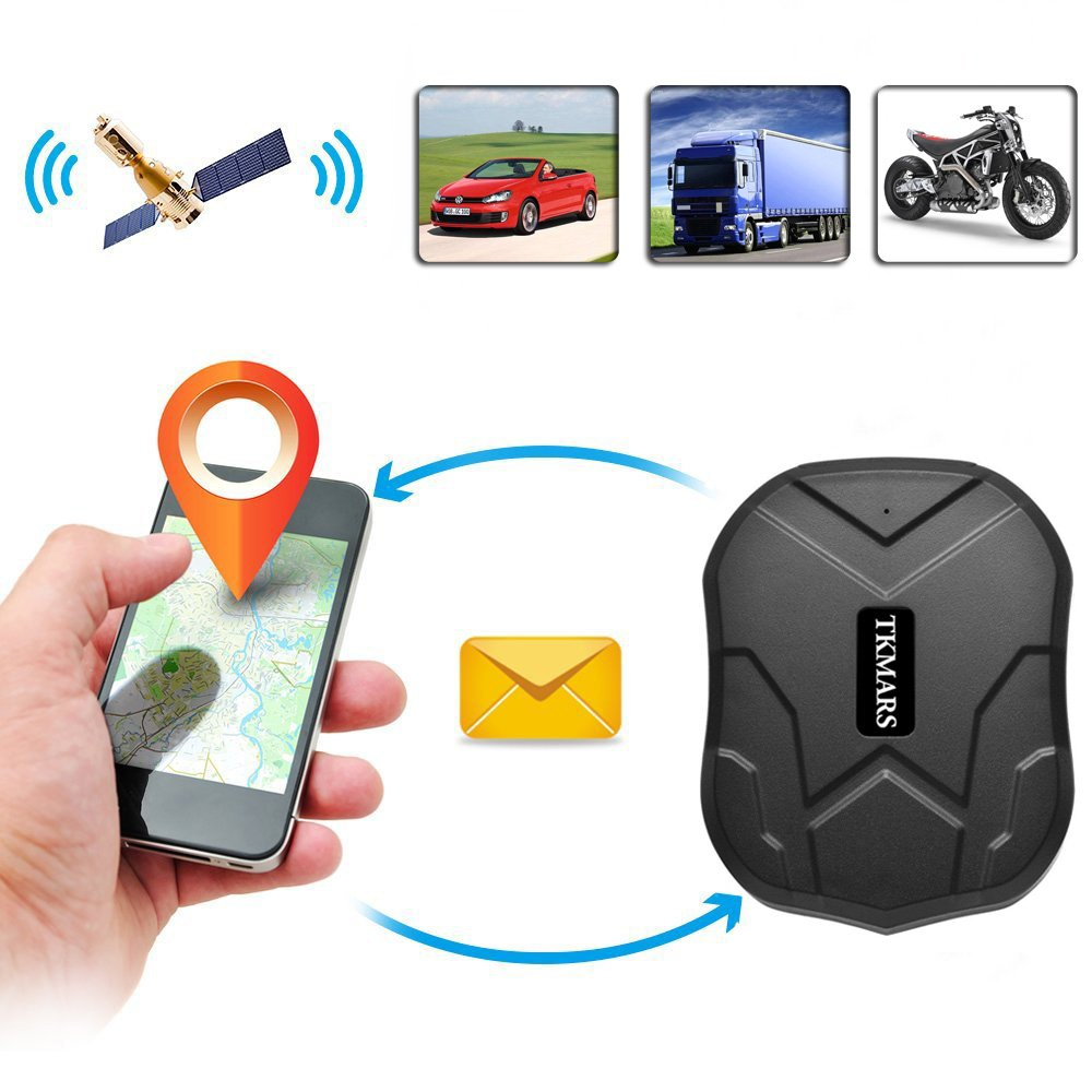 Car Tracker, Hangang Vehicle GPS Tracker Device App Realtime Quad Band GSM/GPRS/GPS Vehicle Tracker Car Locator tk905 Tracking Device with Google Link Mini Waterproof IP67 5000mah 3 Months Long Standby Big Battery with Strong Magnet GPS Exclusive Tracking