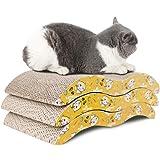 SHUUMEEKA 猫 爪とぎ 板 ネコ バリバリベッド 両面使い ダンボール 猫スクラッチャー 猫ソファー ベッド(3点セット)