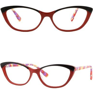 e56d256d59 Amazon.com  Light Acetate Women Cat Eye Frame Stylish Prescription ...