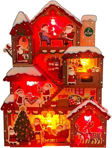 Amazon.com: iluminada Santa Claus Navidad Home luces y 20 ...