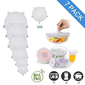 Tapas elásticas de silicona Ohomi para cuencos, sartenes, tazas y ...