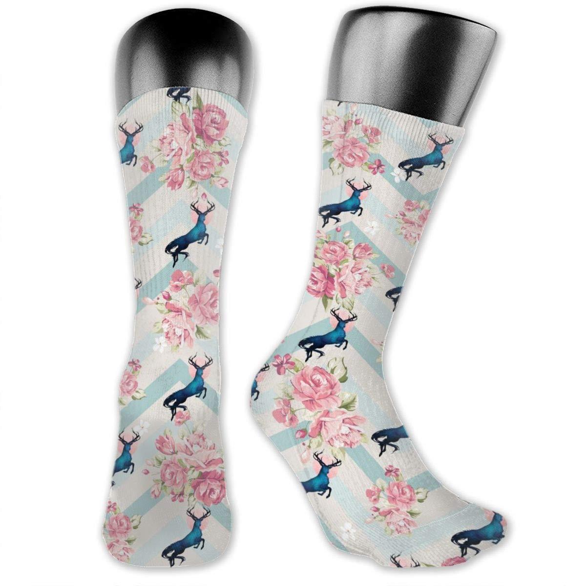 Personalized Stag Mythology Dress Socks For Women Men