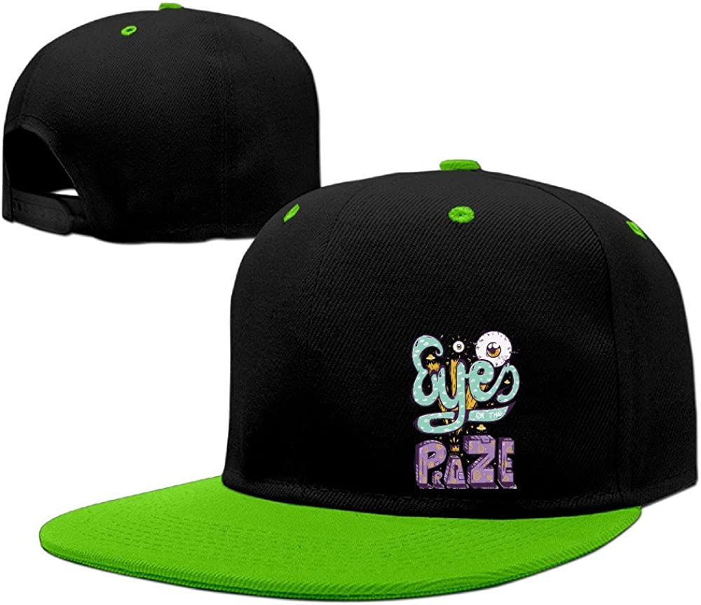Cool Funny Cartoon Eyes On Prize Graphic Adjustable Snapback Caps