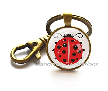 Llavero Ladybug con diseño de mariquita, llavero de animal ...