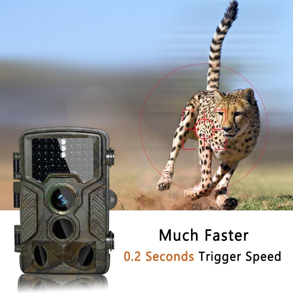 C/ámara de Caza C/ámara de Caza BestoU 16MP 1080P HD Trail C/ámara con Visi/ón Nocturna Impermeable IP56 con PIR Infrarrojo Sensor de Movimiento 46 Pcs IR LEDs de 2.4 LCD con 32G Tarjeta Micro SD /…