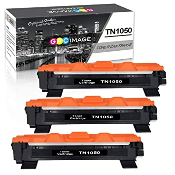 GPC Image TN1050- (3 Negro) Cartuchos de Tóner reemplazo Compatible para Brother TN-1050 TN1050 para Brother HL-1110 DCP-1510 DCP-1512 HL-1210W ...