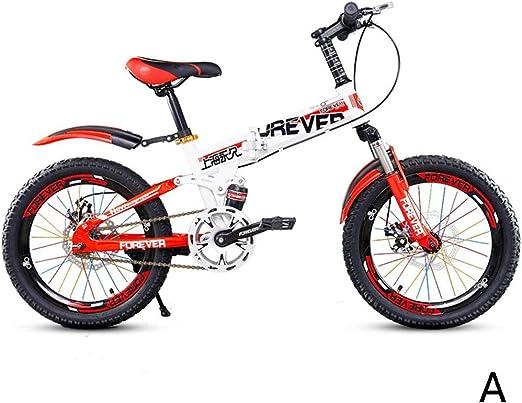 Bicicletas Plegable montaña Amortiguador niño niña Cochecito, 18 ...